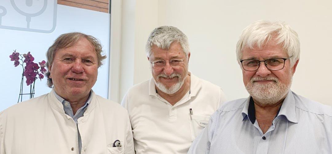 v.l.n.r. Volker Dolenga, Dr. Holger Hamann und Uwe Braatz