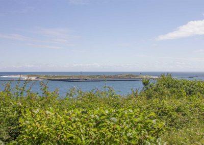 Blick vom Gesundheitszentrum Helgoland auf das Meer