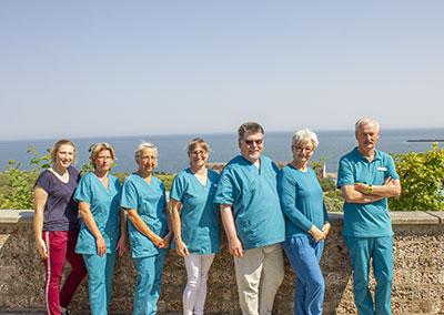 Team des Gesundheitszentrums Helgoland