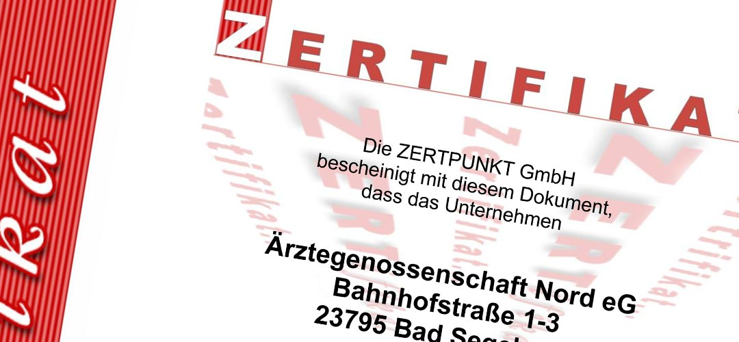 Pressemitteilung: Ärztegenossenschaft Nord ist nach DIN EN ISO 9001:2015 QM-Zertifiziert