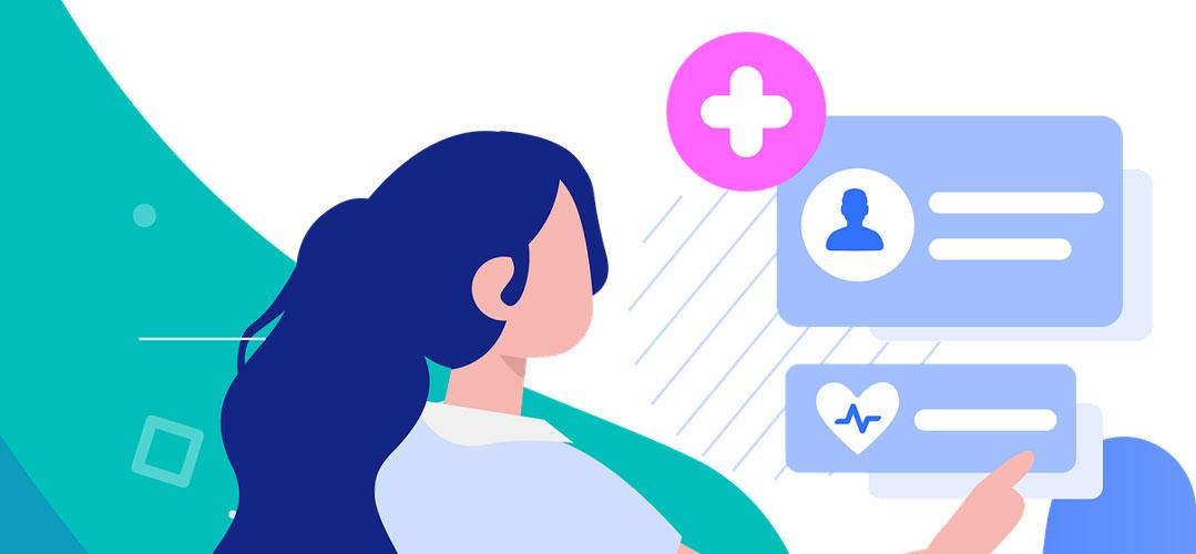Krankenschwester bei einem EKG-Monitoring