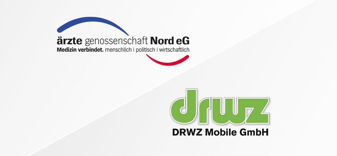 Logo der Ärztegenossenschaft Nord eG und der DRWZ Mobile GmbH