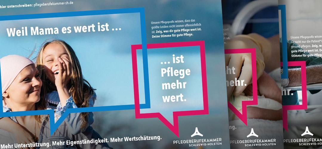 """""""Pflege verdient mehr"""" Kampagne"""