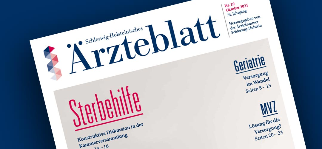 Ärzteblatt Oktober 2021, Screenshot vom Cover